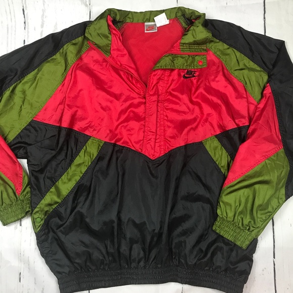 Vintage 90s Nike FIT Tail Wind Unisex Windbreaker Jacket ZyjMpTqfK